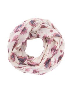 Cream Floral Print Snood | New Look