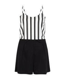 Parisian White Stripe 2 in 1 Playsuit | New Look