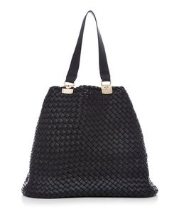 Black Woven Tote Bag | New Look