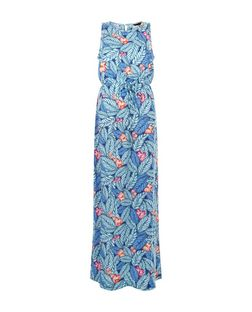 Blue Tropical Print Sleeveless Maxi Dress | New Look