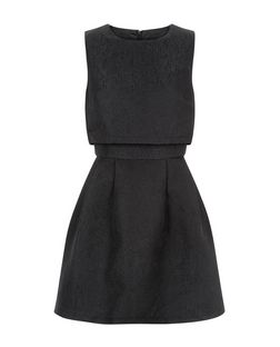 Mela Black Layered Skater Dress | New Look