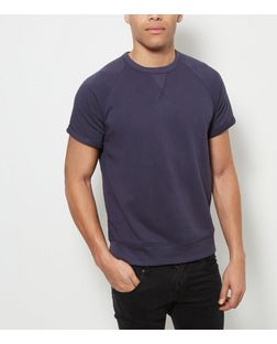 Navy Short Sleeve Sweater  | New Look