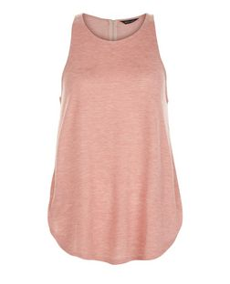 Mid Pink Zip Back Vest  | New Look
