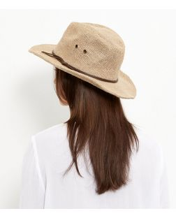 Stone Leather-Look Trim Fedora | New Look