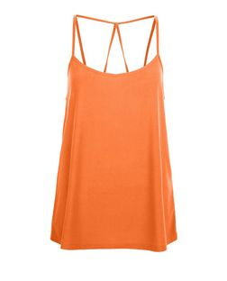 Bright Orange Crepe Strappy Cami | New Look