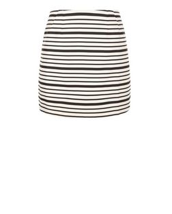 White Stripe Mini Skirt | New Look