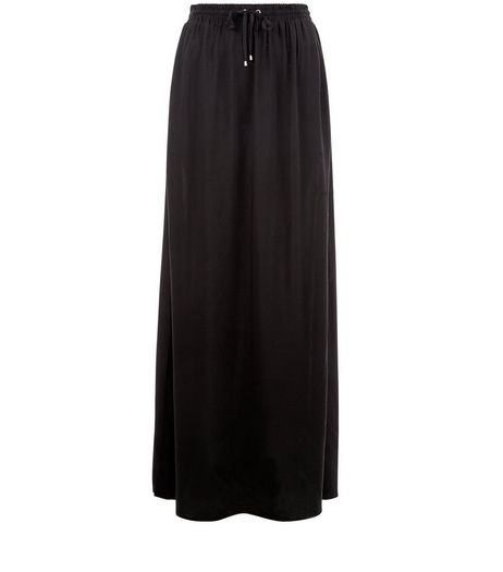 Black Split Side Maxi Skirt  | New Look