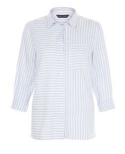 White Stripe Print Front Pocket Shirt | New Look