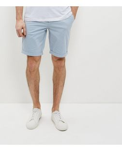 Pale Blue Chino Shorts | New Look