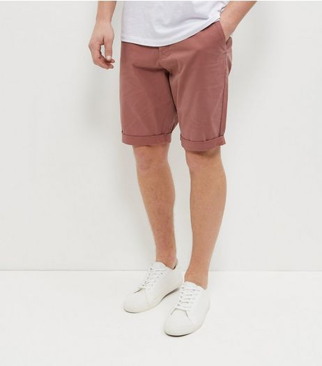Mid Pink Chino Shorts | New Look