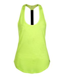 Lime Elastic Strap Back Sports Vest  | New Look