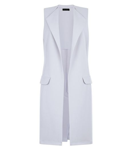 Pale Blue Double Pocket Sleeveless Jacket | New Look