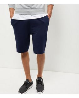 Navy Drawstring Shorts | New Look