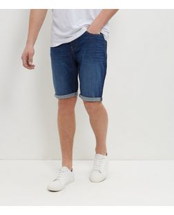 Blue Faded Denim Shorts  | New Look