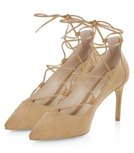 Camel Lace Up Court Shoes | New Look