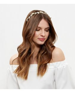 Gold 3D Flower Headband | New Look