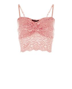 Pink Lace Ruched Bralet | New Look