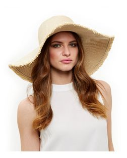 Stone Frayed Floppy Hat | New Look