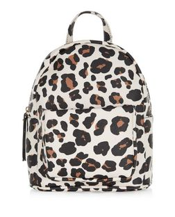 Brown Animal Print Curved Mini Backpack  | New Look