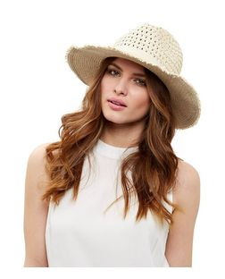 Stone Frayed Fedora | New Look
