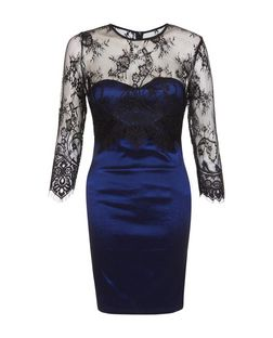 Madam Rage Black Lace Overlay Bodycon Dress | New Look