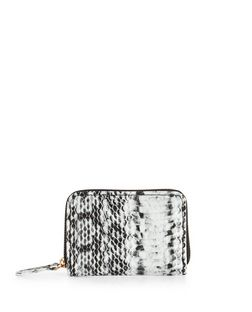 Black Snakeskin Print Mini Cardholder  | New Look