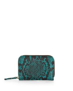 Green Snakeskin Print Mini Cardholder  | New Look