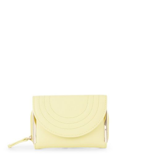 Yellow Quilted Curve Purse  | New Look