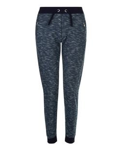 Teens Navy Space Dye Neppy Joggers | New Look