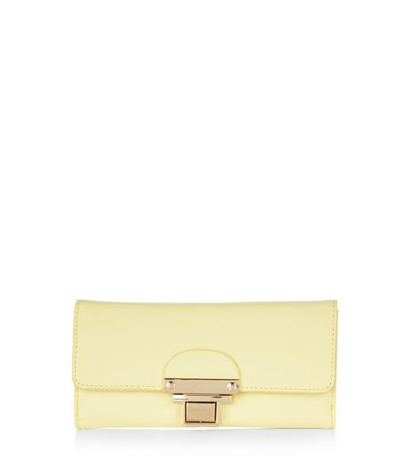 Yellow Push Lock Purse  | New Look