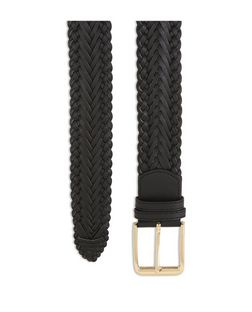 Black Woven Jeans Belt  | New Look
