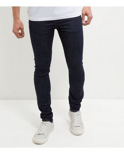 Navy Rinse Washed Skinny Jeans | New Look