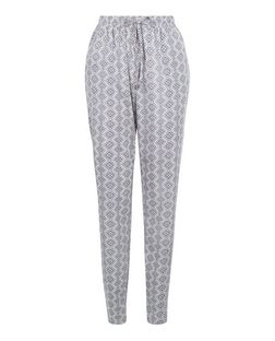 Tall Blue Tile Print Trousers  | New Look