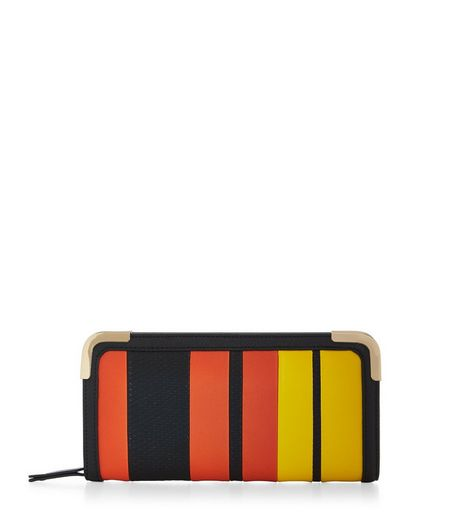 Orange Stripe Purse  | New Look