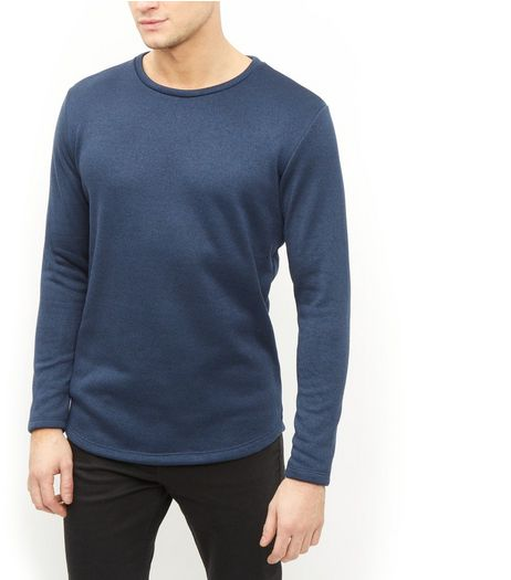 Jack and Jones Premium Navy Crew Neck Long Sleeve Sweatshirt | New Look