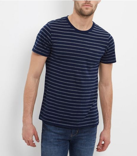Jack and Jones Premium Stripe Crew Neck T-Shirt  | New Look