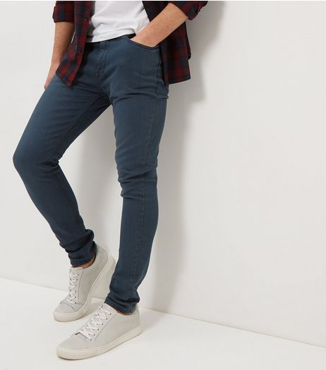 Blue Faded Super Skinny Jeans  | New Look