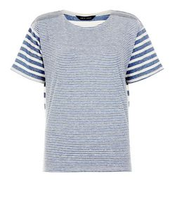 Blue Stripe T-Shirt | New Look
