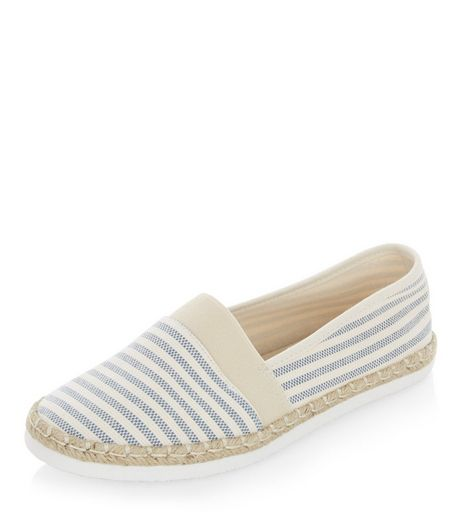 Wide Fit Blue Stripe Espadrilles | New Look