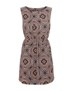 Apricot Black Scarf Print Zip Front Dress | New Look