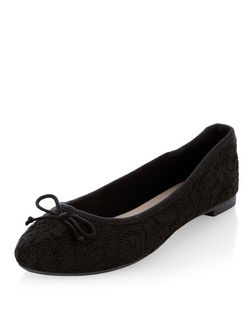 Black Lace Ballet Pumps  | New Look