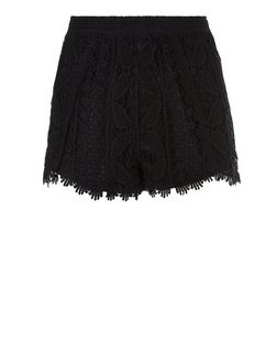 Teens Black Crochet Shorts | New Look
