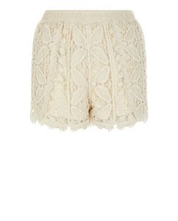 Teens Cream Crochet Shorts | New Look