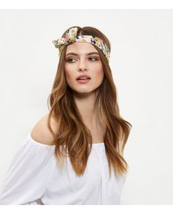 2 Pack White and Pink Floral Print Bandanas | New Look