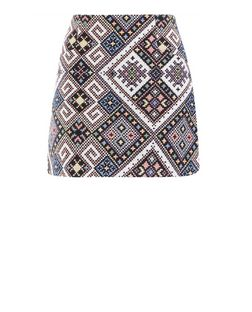 Cameo Rose Black Aztec Print Mini Skirt | New Look