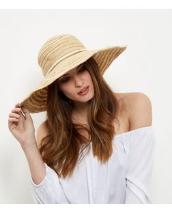 Stone Rope Trim Floppy Hat | New Look