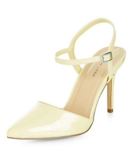 Yellow Sling Back Pointed Heels  | New Look