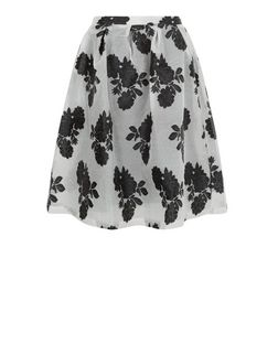 Blue Vanilla Black Floral Print Midi Skirt  | New Look