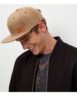 Camel Wool Mix Cap  | New Look