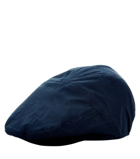 Blue Cotton Mix Flat Cap  | New Look